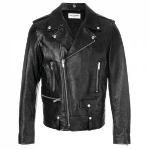 Saint Laurent Men Classic Leather Biker Jacket