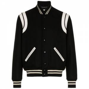 "Saint Laurent Men's Bomber Jacket ""College"""