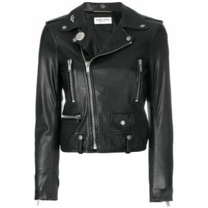 Saint Laurent Women Leather Biker Jacket