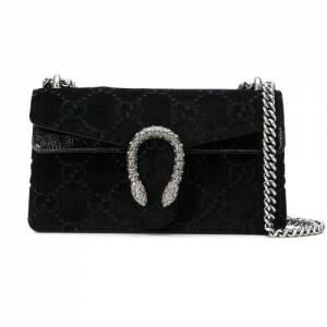 Gucci Women Dionysus GG Velvet Shoulder Bag