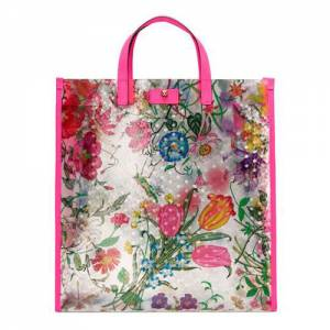 """Gucci Tote Bag """"Vinyl Flora"""""""