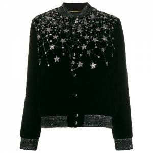 "Saint Laurent Women's Cardigan ""Crystal Bomber"""