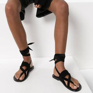 "Saint Laurent Women's Flat Sandals ""Gladiators"""