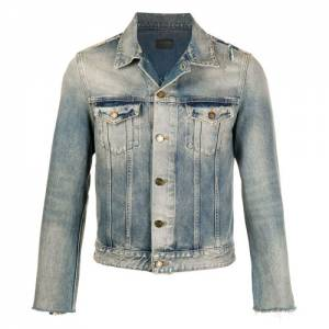 "Saint Laurent Men's Denim Jacket ""Stonewashed"""