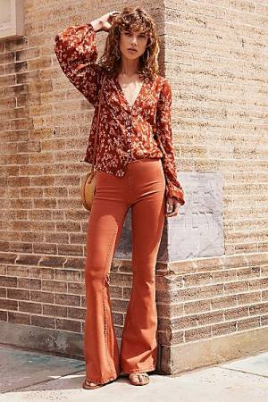 """Free People Flare Jeans """"Penny Pull-On"""""""