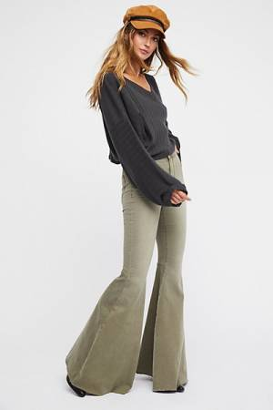Free People Just Float On Army Flare Jeans