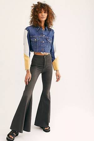 """Free People Flare Jeans """"Just Float On Smokestack"""""""