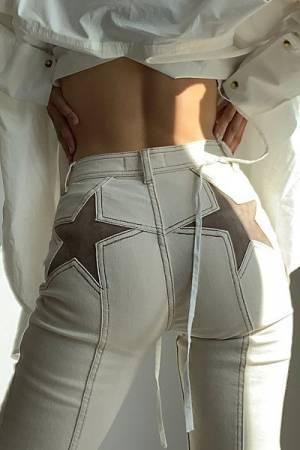 """Free People Flare Jeans """"Firecracker Stars"""""""