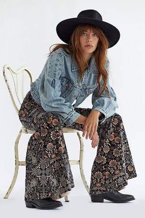 """Free People Flare Jeans """"Just Float On Cantaloupe"""""""