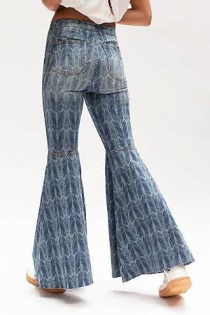 """Free People Flare Jeans """"Just Float On Lost At Sea"""""""