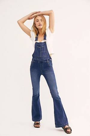 Free People Jeans - Carly Flare Overalls
