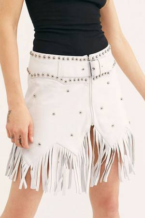 "Understated Leather Skirt ""Howdy"""