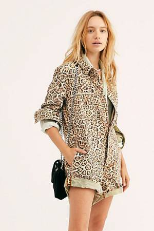 "OneTeaspoon Denim Romper ""Leopard Prophecy"""