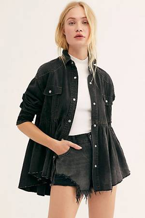 "Free People Denim Shirt ""Dylan Babydoll"""