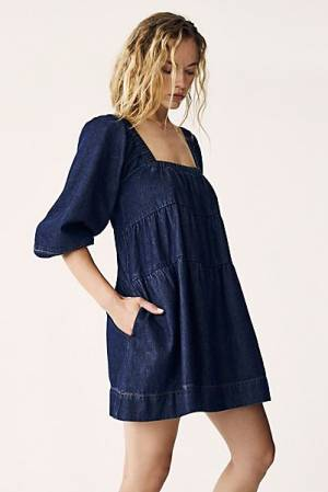 "Free People Denim Dress ""Blue Jean Babydoll"""