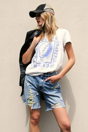 "Free People Denim Shorts ""Distressed Raleigh"""