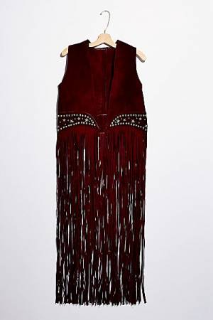 "Understated Leather Fringe Vest ""Paris Texas"""