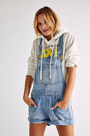 """Free People Jeans """"Baggy Denim Shortall"""""""