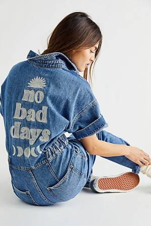 """Free People Denim Overall Jumpsuit """"Marci Coverall"""""""