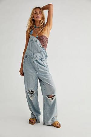 """Free People Jeans """"Super Slouchy Overalls"""""""
