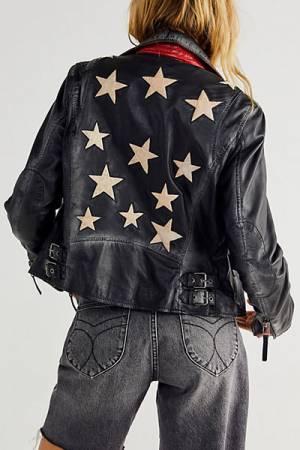 """Free People Leather Jacket """"Christy Moto Jacket"""""""