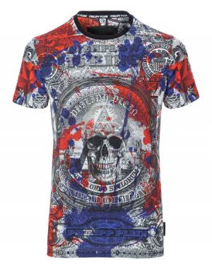 "Philipp Plein Men ""HERB"" Round Neck Skull T-Shirt SS"