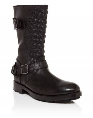 "Philipp Plein Men ""CHOPARD"" Black Boots"