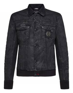 "Philipp Plein Men's Denim Jacket ""GOTHIC PLEIN"""