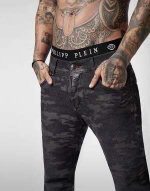 """Philipp Plein Jeans """"CAMOUFLAGE"""" Men's Denim"""