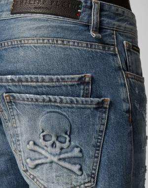 """Philipp Plein Jeans """"ORIGINAL"""" Skull Men's Denim"""
