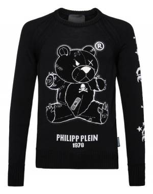 "Philipp Plein Sweater ""TEDDY BEAR"" Men's Knitwear Pullover"