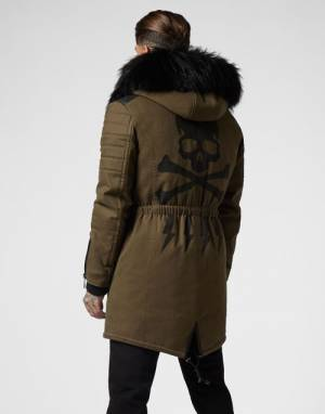 "Philipp Plein Men's Parka Jacket ""SKULL"""