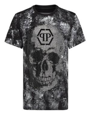 "Philipp Plein Men's T-Shirt ""CRYSTAL SKULL"""