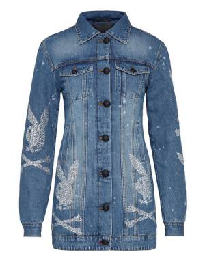 "Philipp Plein Denim Jacket ""PLAYBOY"" Women Collection"