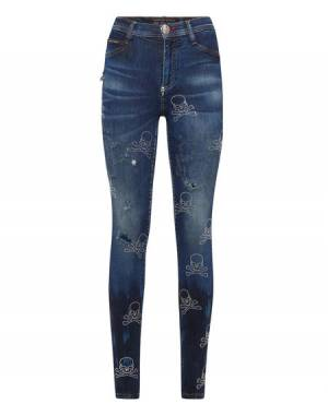 "Philipp Plein Jeans ""SKULL"" Women's Denim"