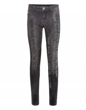 "Philipp Plein Women's Jeans ""CRYSTAL PLEIN"" Jeggings"