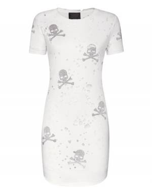 "Philipp Plein Mini Dress ""SKULL"" Tee"