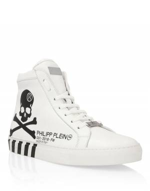 "Philipp Plein Men's Sneakers ""SKULL"" Hi-Tops"