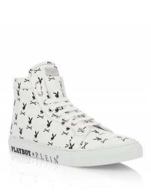 "Philipp Plein Sneakers ""PLAYBOY SKULL"" Men's Shoes"