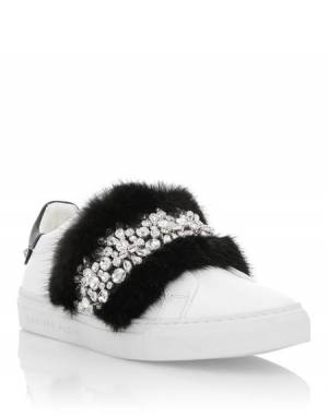 "Philipp Plein Women's Sneakers ""LUXURY"" Lo-Tops"