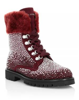 "Philipp Plein Women's Boots ""CRYSTAL"" Hiking"