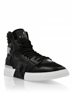 "Philipp Plein Men's Sneakers ""BLACK PHANTOM KICK$"""