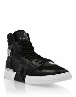 "Philipp Plein Men's Sneakers ""BLACK PHANTOM KICK$"""