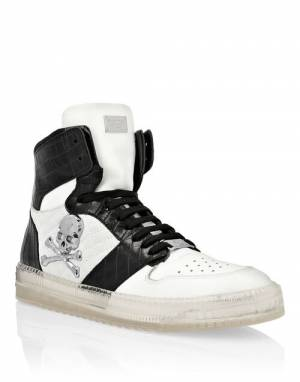 "Philipp Plein Men's Sneakers ""SKULL HIGH-TOP"""