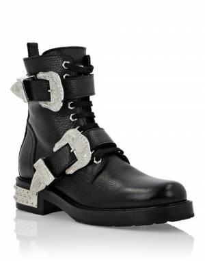 "Philipp Plein Women's Combat Boots ""COWBOY"""