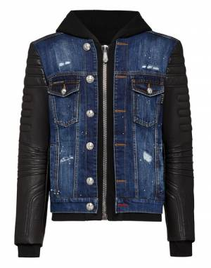 "Philipp Plein Jacket ""Men's Denim Jacket TM"""