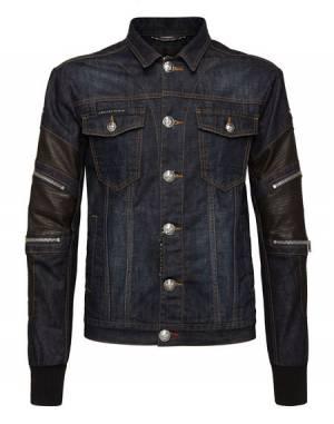 """Philipp Plein Men Denim Jacket """"ZIPPED"""""""