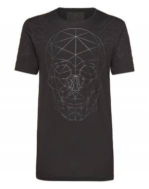 "Philipp Plein Men's T-Shirt ""FACES"" Skull Top"