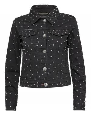 "Philipp Plein Women's Denim Jacket ""CRYSTALS MIND"""