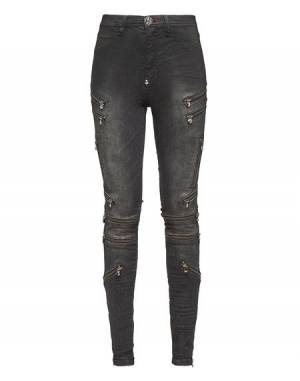 "Philipp Plein Women's Jegging Jeans ""IMPRESSIVE"" Zipped"